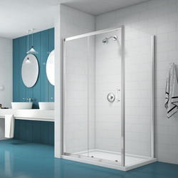 Merlyn Nix Merlyn NIX Sliding Shower Enclosure Door and Side Panel 1400 x 800mm - 78885 - from Toolstation
