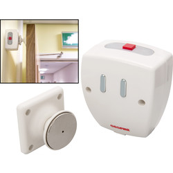 Agrippa Sound Activated Battery Operated Door Holder White