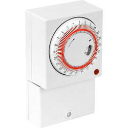 24 Hour Mechanical Timer 16A (2A)