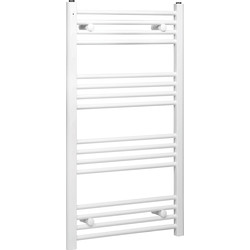 Qual-Rad White Flat Towel Radiator 1000 x 550mm 1493Btu - 78992 - from Toolstation