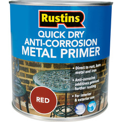Rustins Quick Dry Anti Corrosion Metal Primer Red 1L - 79062 - from Toolstation