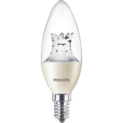 Philips Philips LED Warm Glow Dimmable Candle Lamp 6W SES (E14) 470lm - 79103 - from Toolstation
