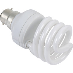 Sylvania Sylvania Energy Saving CFL Spiral T2 Lamp 15W BC (B22d) 900lm - 79187 - from Toolstation