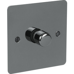 Axiom Flat Plate Black Nickel LED Dimmer Switch 1 Gang 2 Way - 79256 - from Toolstation