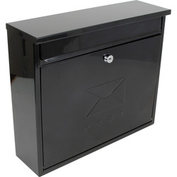 Rectangular Post Box Black