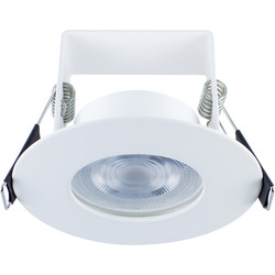 Integral LED Integral LED 3.8W Evofire+ IP65 Integrated Fire Rated Dimmable Downlight White 400lm Cool White - 79556 - from Toolstation