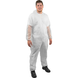 Disposable Hooded Coverall Large - 79564 - from Toolstation