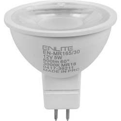 Enlite Enlite LED 5W MR16 Lamp Warm White 500lm - 79583 - from Toolstation
