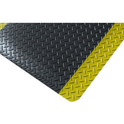 Blue Diamond Kumfi Tough Vinyl Anti-Fatigue Mat 1.5m x 0.9m - Black/Yellow - 79604 - from Toolstation