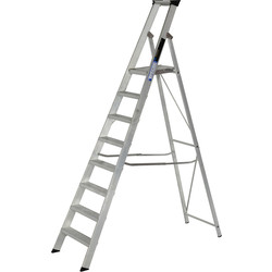 Youngman Youngman Heavy Duty Platform Step Ladder 8 Tread SWH 3.44m - 79611 - from Toolstation
