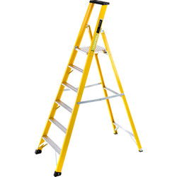 TB Davies TB Davies Fibreglass Platform Step Ladder 6 Tread SWH 3.0m - 79627 - from Toolstation