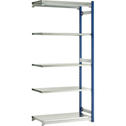 Barton Barton 5 Tier Boltless Shelving Extension Bay 2000 x 1042 x 478mm - 79651 - from Toolstation