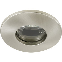 Halolite Cast IP65 240V/12V Downlight Satin Nickel - 79664 - from Toolstation