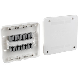 Surewire 2 Way Pre-wired Light & Switch Junction Box SW2L-MF - 79666 - from Toolstation