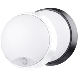 Luceco Luceco Eco LED Round Bulkhead IP54 PIR 10W 700lm - 79688 - from Toolstation