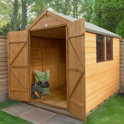 Forest Forest Garden Shiplap Dip Treated Shed - Double Door 8' x 6' - 79710 - from Toolstation