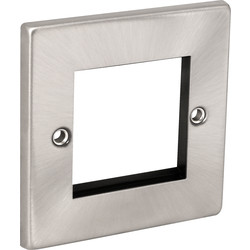 Click Deco Click Deco Satin Chrome Data Plate 2 Module - 79715 - from Toolstation