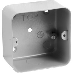 MK MK Grid Metal Flush Back Box 1-2 Gang With Knockouts - 79816 - from Toolstation