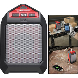 Milwaukee Milwaukee M12JSSP-0 12V Li-Ion Cordless Bluetooth Speaker Body Only - 79846 - from Toolstation