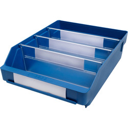 Barton Blue Shelf Bin 300 x 240 x 95mm - 79852 - from Toolstation