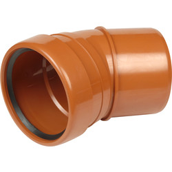 Aquaflow Single Socket Bend 110mm 30° - 79869 - from Toolstation
