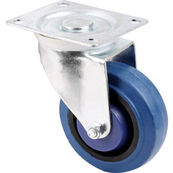 General Duty Electric Blue Castor Swivel 100mm / 125kg - 79886 - from Toolstation