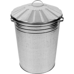 Galvanised Metal Dustbin & Lid 80L - 79917 - from Toolstation