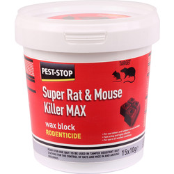 Pest-Stop Pest-Stop Mouse & Rat Killer Sachets Max Wax Blocks 15 x 10g - 79919 - from Toolstation