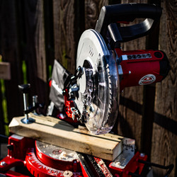 Einhell 254mm Single Bevel Sliding Mitre Saw with Stand