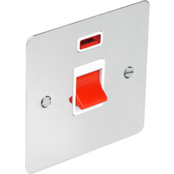Flat Plate Polished Chrome 45A DP Switch Neon - 79954 - from Toolstation