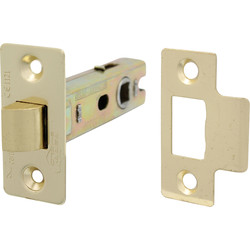 Fire Door Bolt Through Tubular Latch 75mm Electro Brass - 79976 - from Toolstation
