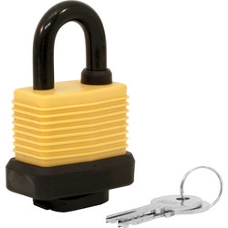 EC EC Security Weatherproof Padlock 50 x 8 x 19mm KA - 80029 - from Toolstation