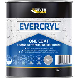 Everbuild Evercryl Roof Repair Grey 1kg One Coat - 80073 - from Toolstation
