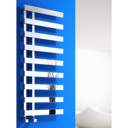 Reina Florina Towel Radiator 1235 x 500mm Chrome 2315Btu - 80169 - from Toolstation