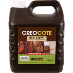 Barrettine Creocote Shed & Fence Treatment 4L Dark Brown - 80210 - from Toolstation