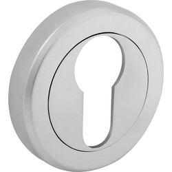 Serozzetta Serozzetta Escutcheon - Euro Profile Satin Chrome - 80287 - from Toolstation