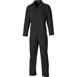 Dickies Dickies Redhawk Economy Stud Front Coverall Small Black - 80347 - from Toolstation