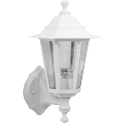 Meridian Lighting Victorian Style Lantern IP33 White 60W ES - 80368 - from Toolstation