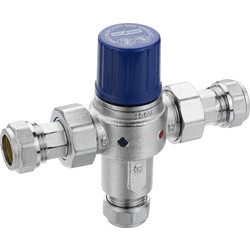 Made4Trade Made4Trade TMV2 & TMV3 Thermostatic Mixing Valve 22mm - 80371 - from Toolstation