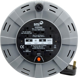 SMJ 13A Enclosed Cable Reel 4 Socket 10m 240V - 80375 - from Toolstation