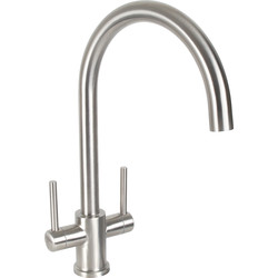 Dava Stainless Steel Kitchen Sink Mono Mixer Tap
