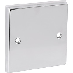 Chrome Blank Plate 1 Gang - 80409 - from Toolstation