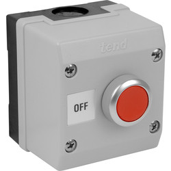 Axiom Axiom Push Button Red Off - 80413 - from Toolstation
