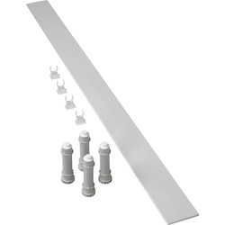 Mira Mira Flight Low Rectangular Riser Conversion Kit 1700mm White - 80518 - from Toolstation