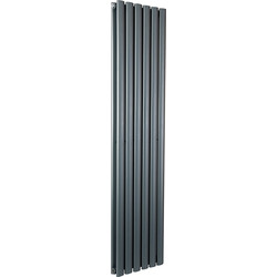 Cassellie Double Panel Vertical Designer Radiator 1800 x 354mm Anthracite 4046Btu - 80547 - from Toolstation