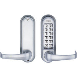 Eclipse Ironmongery ED50 Heavy Duty Digital Lock Satin Chrome - 80552 - from Toolstation