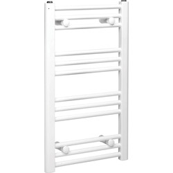 Qual-Rad White Flat Towel Radiator 1200 x 550mm 1831Btu - 80578 - from Toolstation