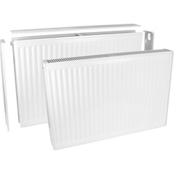Qual-Rad Type 22 Double-Panel Double Convector Radiator 600 x 400mm 2405Btu - 80613 - from Toolstation