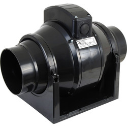 Airvent Airvent 100mm Mixed Flow Inline Extractor Fan Standard - 80615 - from Toolstation
