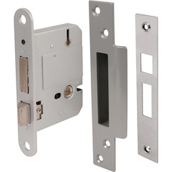 BS High Security 5 Lever Mortice Sashlock 76mm Satin Chrome